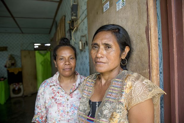 Alola Foundation staff member Francisca Alves Taolin, and Rita Sarmento, a woman Alola supported to run for Village Chief in Timor-Leste. Photo: Anna E Carlile