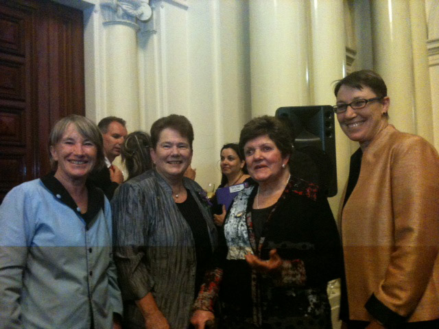 IWDA founders and CEO with Joan Kirner.