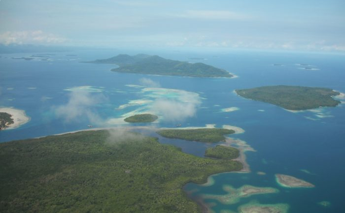 Aerial shot of Bougainville
