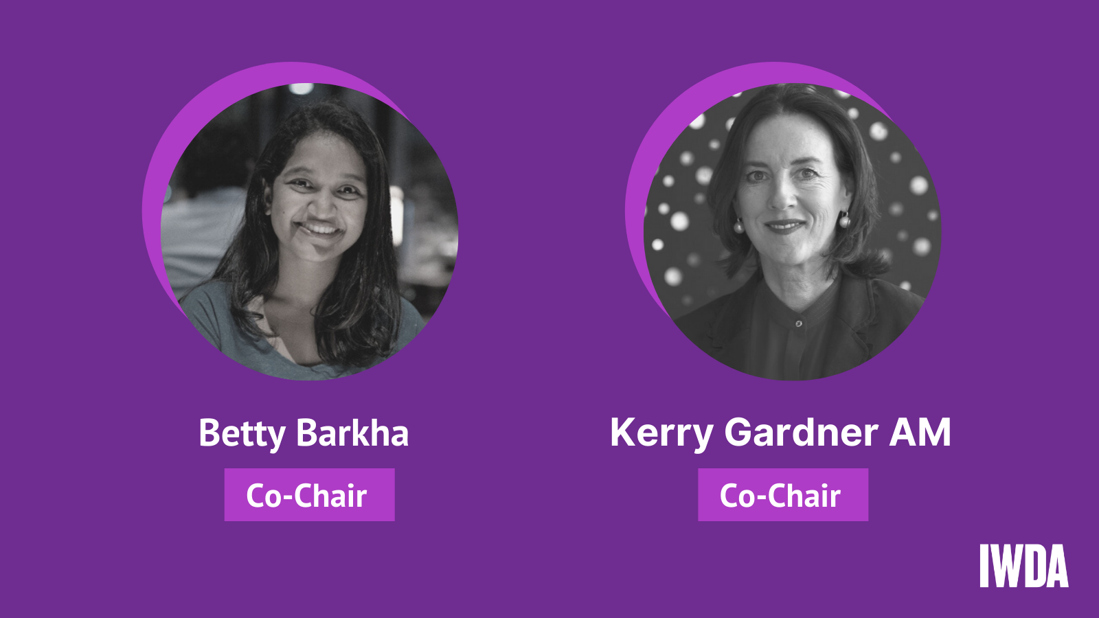 Board Co-Chairs Betty Barkha and Kerry Gardner AM