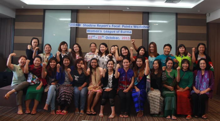 Participants at the CEDAW Shadow Workshop hosted by Women's League of Burma. Photo: Boe Cho