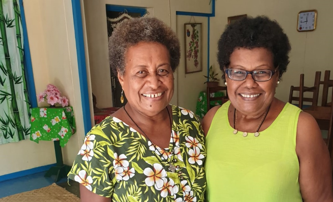 Ethel Suri, Training Coordinator, and Ethel Lado, Project Finance Officer, at Christian Care Centre in Solomon Islands