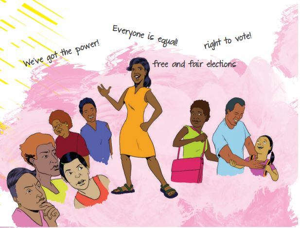 The My Guide to Voting booklets have been distributed by FWRM and DIVA for Equality through the Fiji Young Women's Forum.