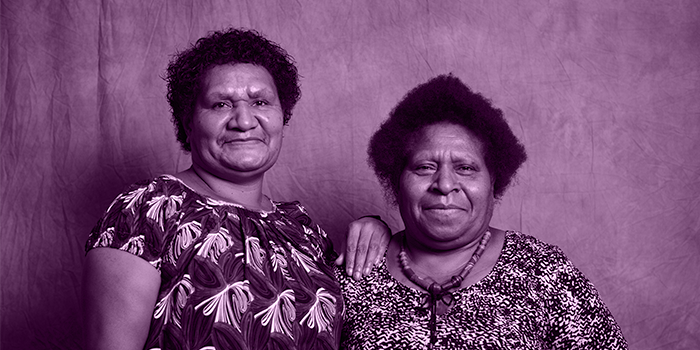 Brenda Samson and Lilly Be'Soer of Voice for Change. Photo: Gemma Carr