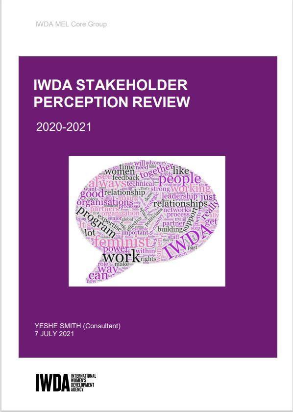 IWDA stakeholder report 2020-21