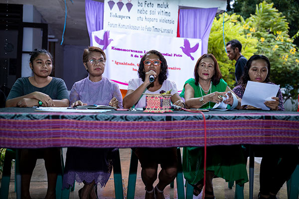 Press conference at Fokupers, Dili, Timor-Leste, 2019.