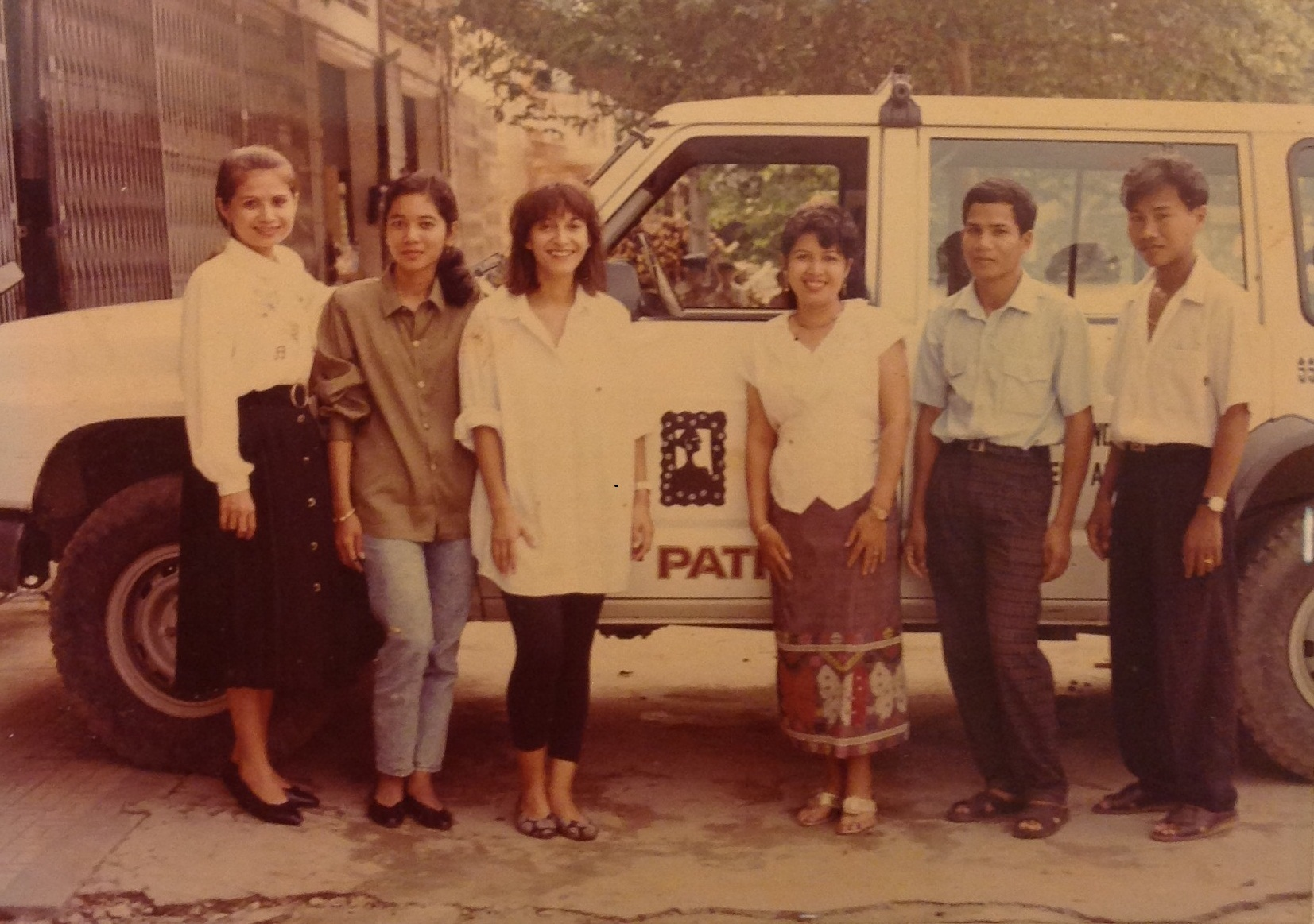 IWDA Cambodia staff in the 1990s