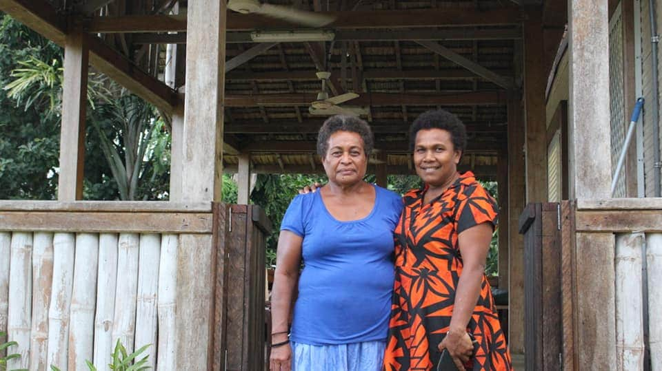 two women standing together in Solomon Islands