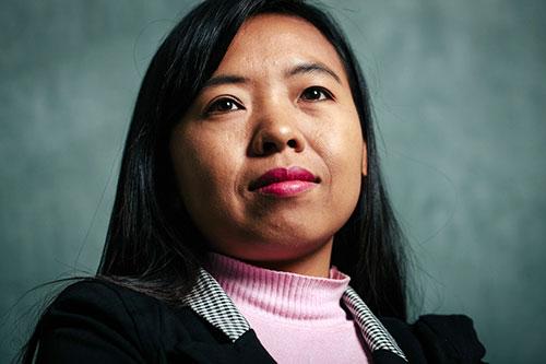 Lway Moe Kham, from Ta'ang Women's Organisation (TWO), Myanmar
