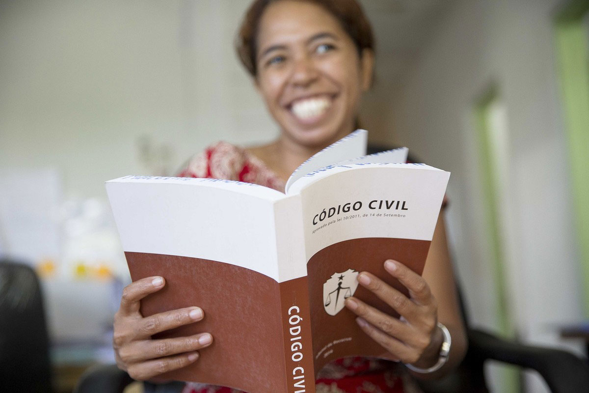 Marcelina, Legal Aid Officer at ALFeLa in Timor-Leste.
