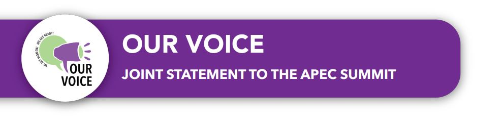 Our Voice - Joint Statement to the APEC Summit