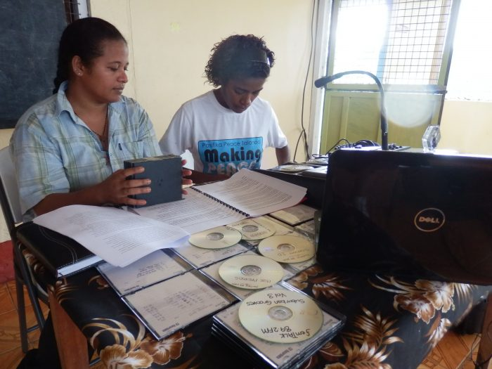 Generation Next members producing a radio broadcast. Photo: Sharon Bhagwan Rolls