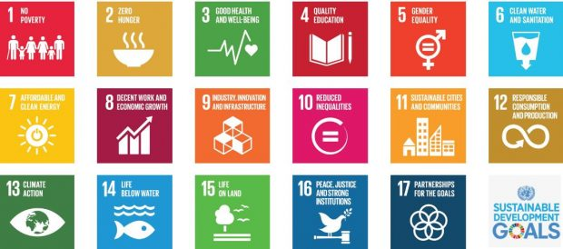 Images of the sustainable development goals.