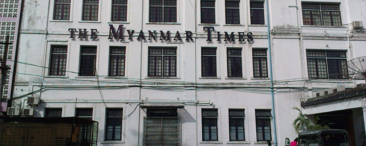 The office of The Myanmar Times in Yangon. Photo: Tony Yoo