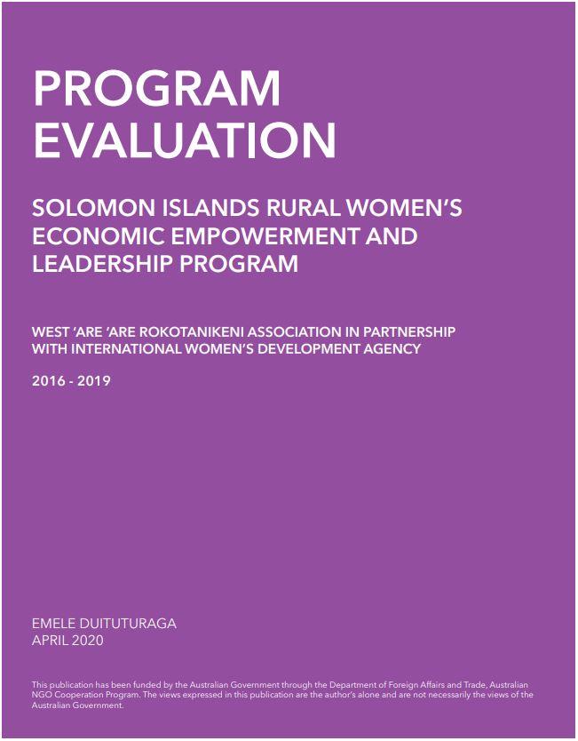 WARA Program Evaluation