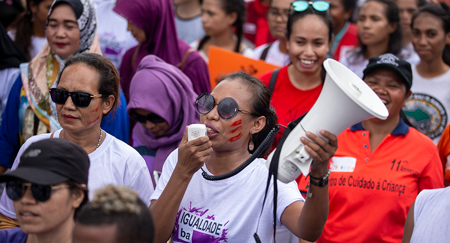 International Women's Day 2019 march in Dili, Timor-Leste. Photo: Harjono Djoyobisono