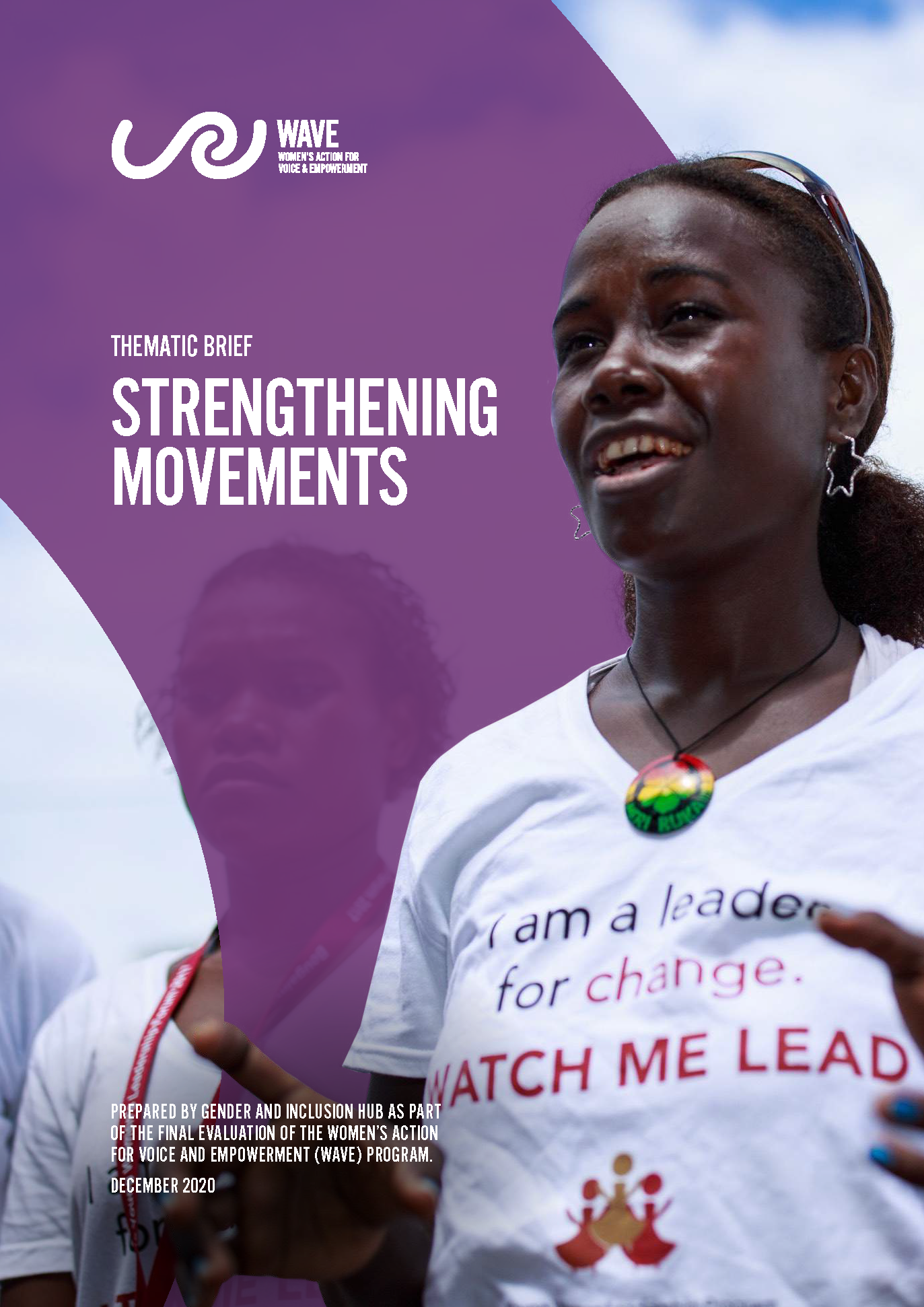 Photo of a woman wearing a shirt that says ' I am a leader for change'