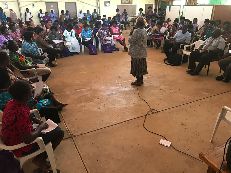 The Bougainville Women Human Rights Defenders Forum enabled participants to build connections, strengthen networks and referral pathways in order to better protect and defend women's and children's rights.