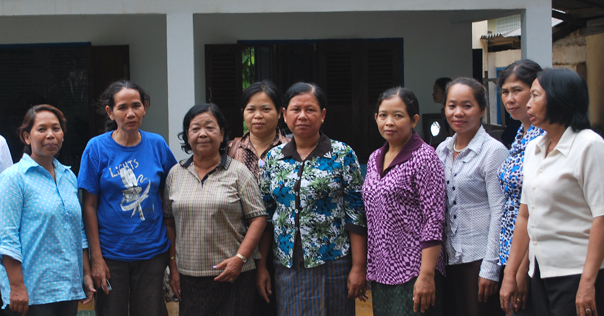 Banteay Srei staff in front of the safe house. Photo: Banteay Srei