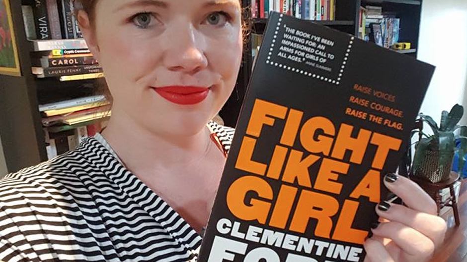 Clementine Ford with her new book, 'Fight Like a Girl'. Photo: Clementine Ford/Facebook
