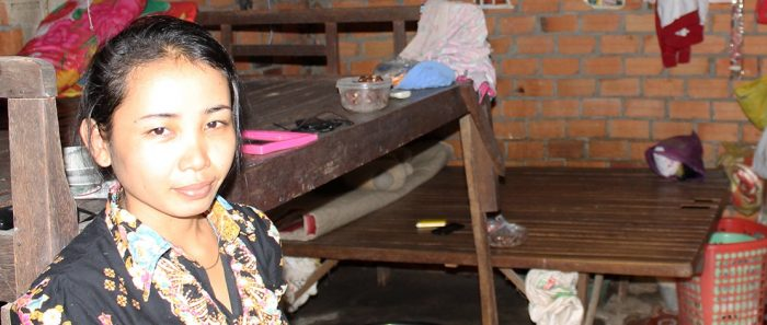 Chhom Chanthy, a garment worker in Cambodia. Photo: IWDA