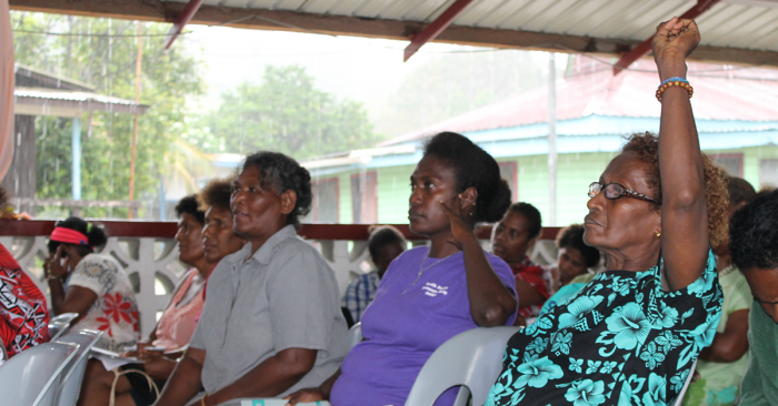 Women participating in the forum. Photo: Bronwyn Tilbury