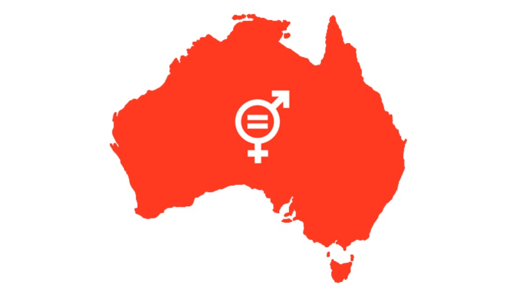 Image of Australia with Global Goal 5 in the middle