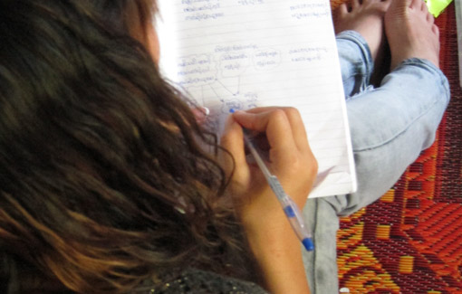 Image of  a participant attending a community consultation meeting