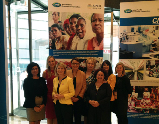 Image of Australian representatives and members of the Australian delegation to the APEC Women & The Economy Forum