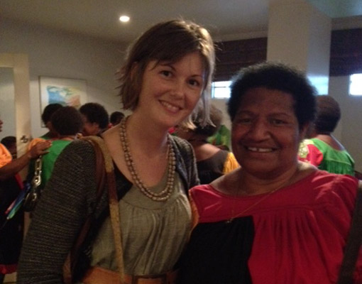 Image of IWDA Program Manager for PNG Tessa Walsh with Governor Julie Soso in Goroka, PNG
