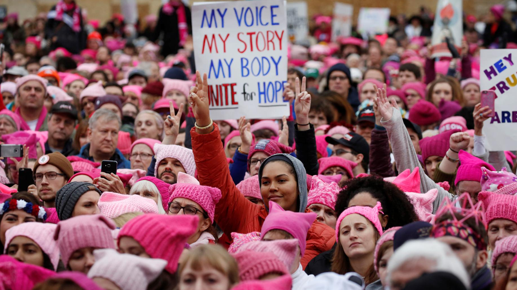 A sea of activists clad in pussy hats. Photo: Mercatornet
