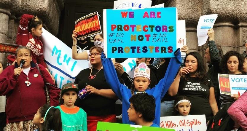 Water Protesters at Standing Rock. Photo: Allison Herrera