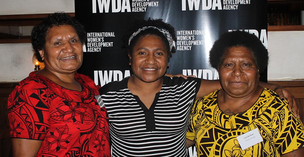 Brenda Samson, Sophie Kilipi and Lilly BeSoer of Voice for Change. Photo: Emma Kucelj