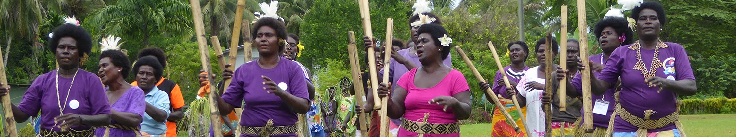 Image of women marching in Papua New Guinea