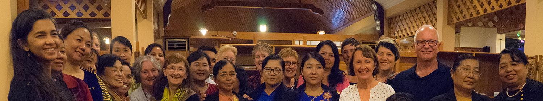 Image of women in Myanmar from Akhaya Women's mentoring program
